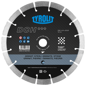 PREMIUM - Dry cutting saw blade DCH TGD - hard stone