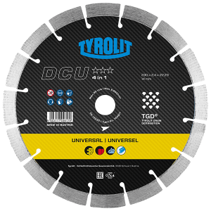 PREMIUM - Dry cutting saw blade DCU 4in1 TGD - universal
